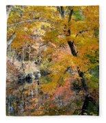 Autumn Vintage Landscape 6 Fleece Blanket