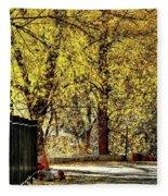 Autumn Walkway Fleece Blanket
