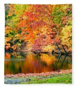 Autumn Warmth Fleece Blanket