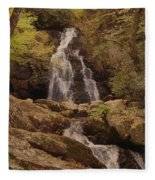 Autumn Waterfall In The Great Smoky Mountains Fleece Blanket