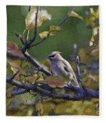 Autumn Waxwing 2 Fleece Blanket