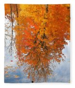 Autumn With Colorful Foliage And Water Reflection 19 Fleece Blanket