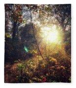 Autumn Woodland Fleece Blanket