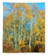 Autumn Woodlot Fleece Blanket