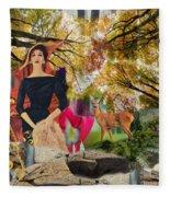 Autumn Woods  Fleece Blanket
