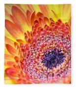 Autumn Yellow Flower Fleece Blanket