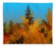 Autumnal Forest Fleece Blanket