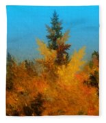 Autumnal Forest Fleece Blanket
