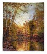 Autumnal Tones 2 Fleece Blanket