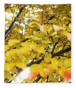 Autumns Gold Fleece Blanket
