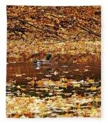 Autumns Mallards Fleece Blanket