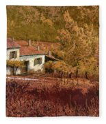 Autunno Rosso Fleece Blanket