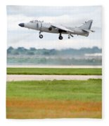 Av-8 Harrier Fleece Blanket