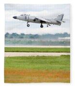 Av-8 Harrier Fleece Blanket