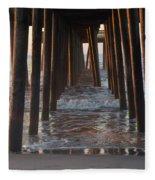 Avalon Pier At 32nd Street Fleece Blanket