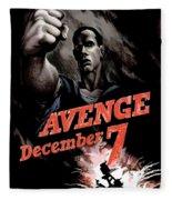 Avenge December 7th Fleece Blanket