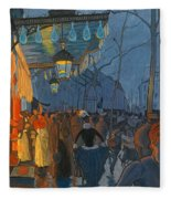 Avenue De Clichy. Five O'clock In The Evening Fleece Blanket