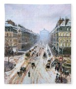 Avenue De L'opera - Effect Of Snow Fleece Blanket