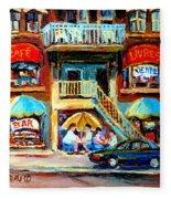 Avenue Du Parc Cafes Fleece Blanket