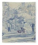 Avenue In A Park Arles, May 1888 Vincent Van Gogh 1853 - 1890 Fleece Blanket