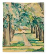 Avenue Of Chestnut Trees At The Jas De Bouffan Fleece Blanket