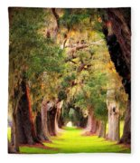 Avenue Of Oaks 2 I Am The Way Fleece Blanket