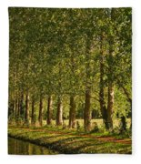 Avenue Of Trees On The Kennet And Avon Canal Fleece Blanket