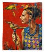 Aviary Queen Fleece Blanket