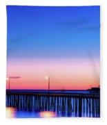 Avila Beach Pier At Sunset Fleece Blanket