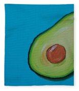 Avocado On The Side Fleece Blanket