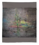 Awakening Abstract 1 Black Background Bright Detail Fleece Blanket