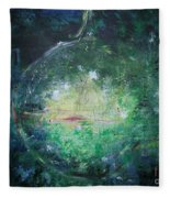 Awakening Abstract II Fleece Blanket