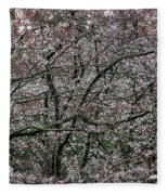 Awash In Cherry Blossoms Fleece Blanket