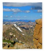 Awesome View From The Mount Massive Summit Fleece Blanket