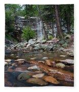 Awosting Falls In July Iv Fleece Blanket