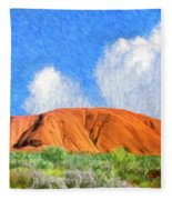 Ayers Rock Fleece Blanket