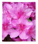 Azalea Floral Garden Fine Art Photography Baslee Troutman Fleece Blanket