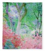 Azalea Flowers And Tree Coral  Fleece Blanket