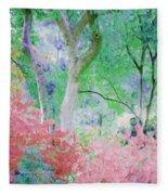 Azalea Flowers And Tree Coral  Fleece Blanket