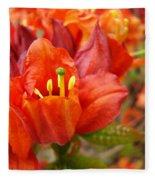 Azalea Flowers Art Prints Azaleas Gilcee Art Prints Baslee Troutman Fleece Blanket