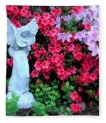 Azalea Garden Angel Fleece Blanket