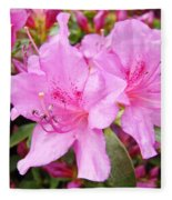 Azalea Garden Art Prints Pink Azaleas Flowers Baslee Troutman Fleece Blanket