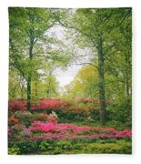Azalea Hillside Fleece Blanket