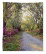 Azalea Lane By H H Photography Of Florida Fleece Blanket