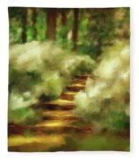 Azalea Stairs Fleece Blanket