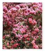 Azaleas Aplenty Fleece Blanket
