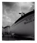 Azorean Fishing Boats Fleece Blanket