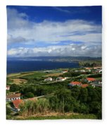Azores Islands Landscape Fleece Blanket