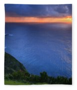 Azores Islands Sunset Fleece Blanket