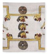 Aztec Ball Game Fleece Blanket